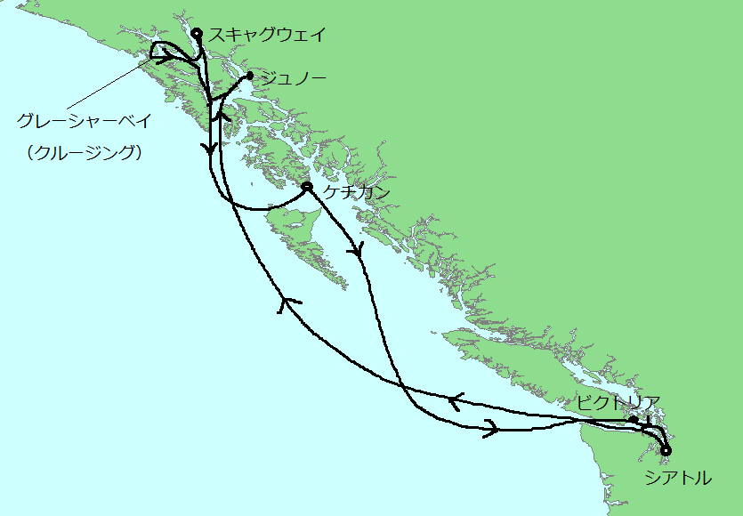 アラスカ インサイド・パッセージ8日間