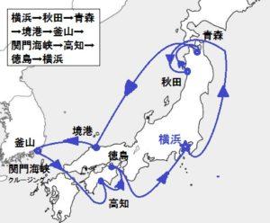 日本の夏!竿燈・ねぶた・よさこい・阿波おどりに沸く 周遊クルーズ・韓国 12日間